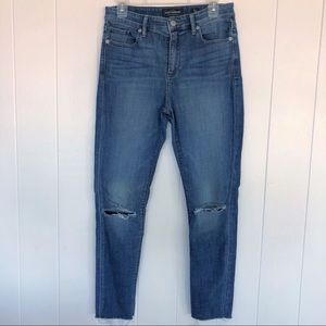 Lucky brand  Bridgette Skinny raw hem jeans